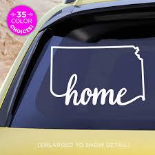 Amazon Com Kansas State Home Decal Ks Home Car Vinyl Sticker Add A Heart Over Wichita Overland Park Kansas City Topeka Olathe Lawrence Hays Made With Outdoor Vinyl Handmade