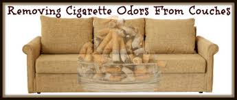 removing cigarette smoke odor from couches