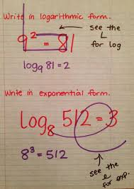 exponential logarithmic form