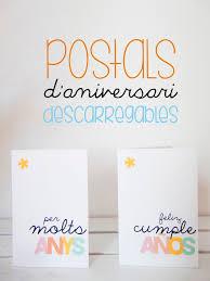 Postal D Aniversari Per Descarregar Postales Cumpleanos