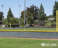 Yellow Fence Topper Guard Baseball Softball Field Fencescreen