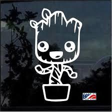 Baby Groot Pot Window Decal Sticker Custom Sticker Shop Baby Groot Window Decals Car Decals Stickers