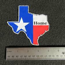 Texas State Flag Home Vinyl Decal Mce Designs