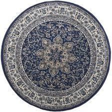 arend oriental navy blue area rug in