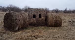 diy hay bale hunting blind