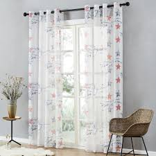 Brand New Children Curtains Blue Red Stars Curtains For Kids Baby Room Curtains Tulle For Window Sheer Curtains Inoava Com