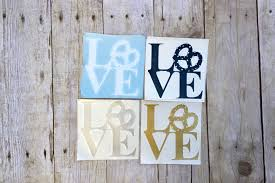 Pretzel Love Vinyl Decal Katie Crafts