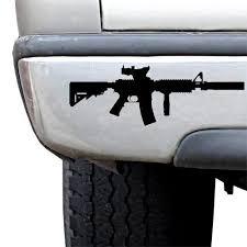 Ar 15 Carbine Rifle 8 Silhouette Sticker Usamm