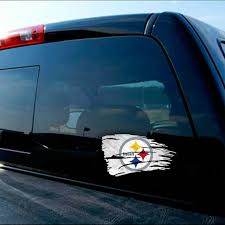 Pittsburgh Steelers Tattered Flag Decal
