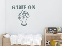 Game On Wall Decals Arm Controller Stickers Teen Room Wall Etsy