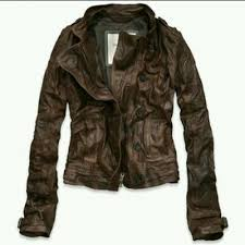 abercrombie fitch mia leather jacket