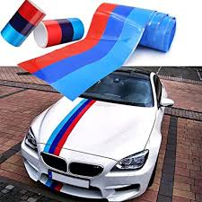 Amazon Com Hsn Zem 5ft M Colored Stripe Sticker Car Vinyl Decal For Bmw M3 M4 M5 M6 3 5 6 7 Series Clothing