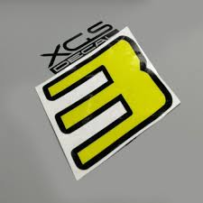 Decal Vinyl Die Cut Printed Vinyl Yellow With Black Outline Number Reflective Sticker For Car Motorcycle Atv Etc Outdoor Buy At The Price Of 0 69 In Aliexpress Com Imall Com