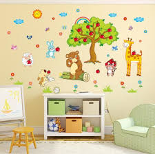 Lovely Apple Tree Animal Cartoon Wall Sticker Kids Room Decoration China Wall Sticker And Home Decoration Price Made In China Com