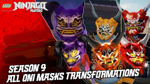 Ninjago Hunted: Season 9 - All Oni Masks Transformations - YouTube