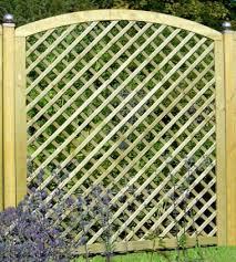 Fence Panel 563 Planed Timber 70x70mm Trellis 4x2 Frame