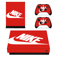 Amazon Com Adventure Games Xbox One X Nike Red Vinyl Console Skin Decal Sticker 2 Controller Skins Set Video Games