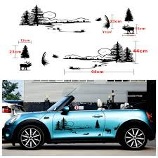 2x Hunt Forest Reindeer Graphic Car Vinyl Decal Hollow Decal Personality Sticker For Sale Online Ebay