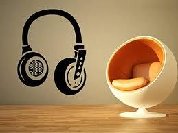 Amazon Com Music Sound Edm Headphones Dj Club Wall Vinyl Sticker Car Mural Decal Art Decor Lp8387 Handmade