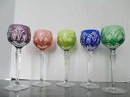 cut to clear crystal wine glasses