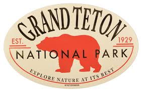 Grand Teton National Park Red Bear Sticker Grand Teton Association
