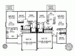 duplex floor plans ranch style house plans