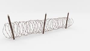 Barbed Wire Electric Fence Live Barbwire Technic Fence Agriculture Png Klipartz