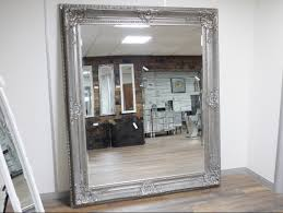 huge silver french antique style mirror