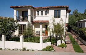 Modern Mediterranean Architecture White Brick Wrought Iron Fence Designs Exterior With Balcony Panels Home Depot Marylyonarts Com