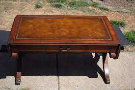 vintage mahogany drop leaf coffee table