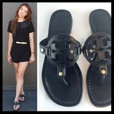 tory burch shoes black leather miller