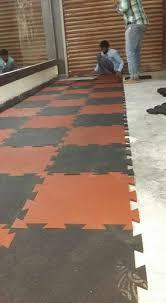 gym interlocking rubber tiles at rs 75