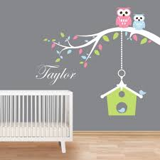 Owls Branch And Birdcage Wall Decals By Artollo