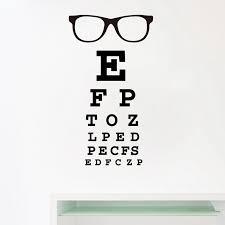 Glasses Eye Chart Letters Art Wall Decal Eyewear Specs Frames Vinyl Sticker Eye Doctor Optometry Optical Shop Window Door Decor Wall Stickers Aliexpress