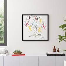 Dance Of Youth By Pablo Picasso Picture Frame Graphic Art Print On Paper Reviews Allmodern