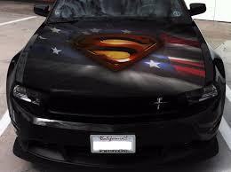 Vinyl Car Hood Full Color Graphics Decal Superman Logo Usa Flag Sticker Ebay