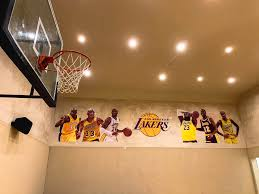 Nba Season Is Back Indoor Half Court Lakers Wall Mural