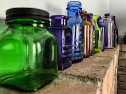 determining the of old glass bottles