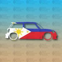 H Filipino Vinyl Car Decal Sticker 7 W Unique Cross 3 Philippine Flag