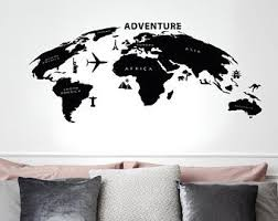 Map Of Usa Wall Decal Names Of States Vinyl Sticker Home Interior School Living Room Decor 14 Home Decor Wdm Wall Decals Murals Home Living