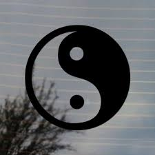 Yin Yang Symbol Vinyl Decal Free Us Shipping For Car Laptop Tablets Etc