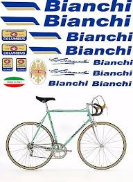 Bianchi Oldschool Bicycle Vinyl Decals Stickers Frame Replacement Adhesive Set Bicycle Vinyl Decal Stickers Decals Stickers