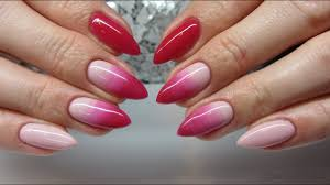Pink Nude Ombre Manicure Jak Zrobic Ombre Za Pomoca Pedzelka