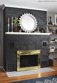 diy painted brick fireplace jenna burger