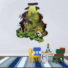 3d Forest Elephant Removable Wall Sticker Vinyl Art Decal Mural Kids Room Decor