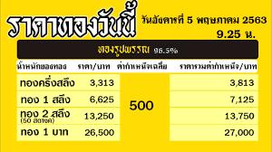 ราคาทองคำวันนี่ วันอังคารที่ 5 พฤษภาคม 2563 ราคาทองแท่งบาทละ ราคาทองรูปพรรณ วันนี้ 5/5/63 ล่าสุด - YouTube