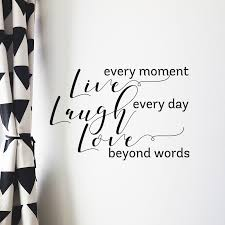 Live Every Moment Vinyl Wall Decal Match Set Love