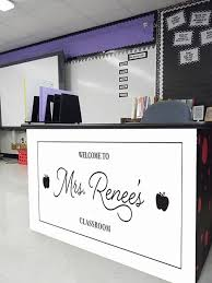 Teacher S Welcome Sign Custom Decal Vinyl Decal Back To Etsy
