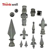 China Forged Weldable Wrought Iron Fence Finials And Railheads China Fence Finials Wrought Iron Fence