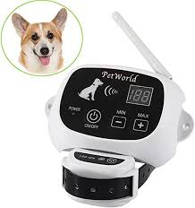 Amazon Com Petworld 100 Wireless Dog Fence System Outdoor Invisible Pet Containment System Rechargeable Waterproof Collar 550yd Remote 1 Dog System Pet Supplies